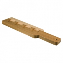 ANCHOR HOCKING 90038, 4-HOLDER WOOD PADDLE, BARBARY (12)