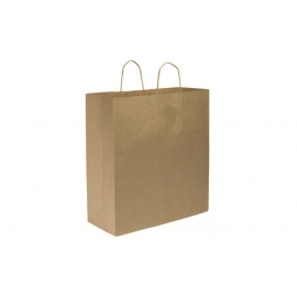"PAPER BAG, HANDLED, KRAFT,  18"" X 7"" X 18-3/4"" - 200 PER CASE"