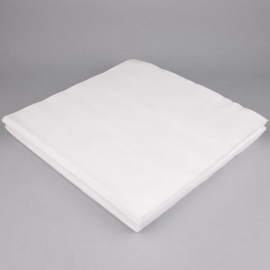WHITE DINNER NAPKIN, LINEN LIKE FLAT PACK (1,000)