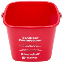 SAN JAMAR 6 QT RED SANITIZING PAIL, W/HANDLE, KLEEN-PAIL (EACH)