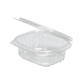 GENPAK PLASTIC 4 OZ, HINGED LID, DELI CONTAINER, SECURE SEAL, AD04 (200)