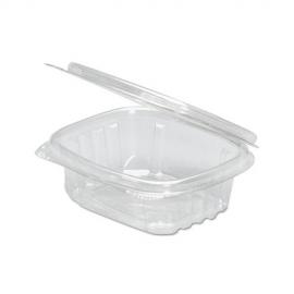 GENPAK PLASTIC 4 OZ, HINGED LID, DELI CONTAINER, SECURE SEAL, AD04 (400)