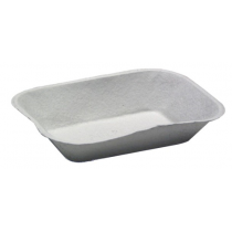 PACTIV MOLDED FIBER FOOD TRAY, 300, 2 LB CAPACITY, NATURAL - 460 PER CASE