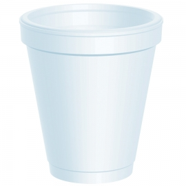 DART 6J6, 6 OZ WHITE FOAM CUP (1000)  USE ANY 6 SERIES LID
