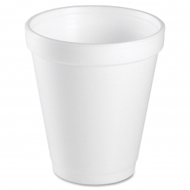 DART 8J8, 8 OZ WHITE FOAM CUP (1000)  USE ANY 8 SERIES LID