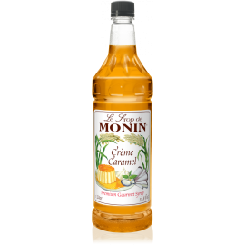 MONIN CARAMEL FLAVORED SYRUP, PLASTIC LITER BOTTLE - 4 PER CASE