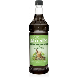 MONIN CHAI TEA CONCENTRATE, PLASTIC LITER BOTTLE - 4 PER CASE