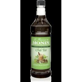 MONIN CHAI TEA FLAVORED SYRUP, PLASTIC LITER BOTTLE - 4 PER CASE