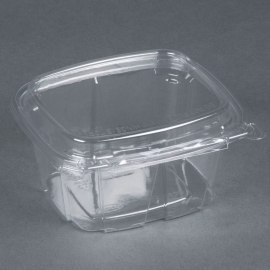 DART 16 OZ CLEAR PAC SAFESEAL CONTAINER W/LID, (200)