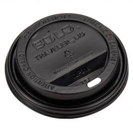 SOLO BLACK DOME SIP LID FOR 12-20 OZ PAPER CUPS (1000)