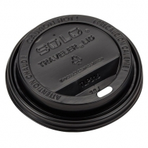 INTERNATIONAL PAPER DOME SIP LID, BLACK, FITS 12-20 OZ CUPS, LHRDS16 (1200)