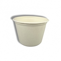 7 OZ BAGASSE BOUILLON / SOUP CUP / BOWL, NATURAL COLOR - 600 PER CASE