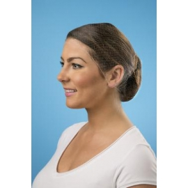 "CELLUCAP HAIRNET 26"" BROWN NYLON DISPOSABLE - 144 PER BOX"