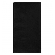 "LAPACO BLACK DINNER NAPKINS 15"" X 17"" 1/8 FOLD 2-PLY"