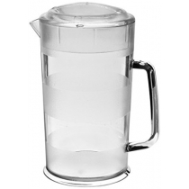 CAMBRO® 64 OZ PLASTIC COVERED PITCHER, CLEAR (6)
