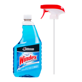 SC JOHNSON WINDEX GLASS CLEANER, ORIGINAL BLUE, 12 - 32 OZ TRIGGER SPRAY BOTTLES