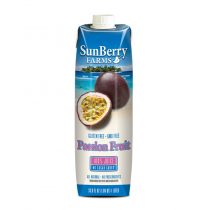 SUNBERRY FARMS 100% PASSION FRUIT JUICE IN LITER, ASEPTIC BOTTLE - 6 PER CASE