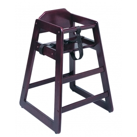 HIGH CHAIR, MAHOGANY (DARK) WOOD FINISH - SOLD EACH