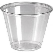 CUP, PLASTIC, 9 OZ, SQUAT, CLE