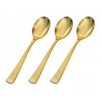 FINELINE GOLDEN SECRETS TEASPOON, HEAVY WEIGHT PLASTIC, 751 - 400 PER CASE