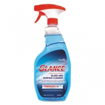 DIVERSEY GLANCE GLASS CLEANER, POWERIZED BLUE, 8 - 32 OZ TRIGGER SPRAY BOTTLES