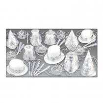 SILVER DOLLAR NEW YEAR  ASSORTMENT FOR 50 PEOPLE - 88891-50