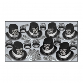BEISTLE BLACK TIE NEW YEAR'S PARTY FAVOR KIT FOR 50 PEOPLE