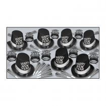 BLACK TIE NEW YEAR'S ASSORTMENT FOR 50 PEOPLE - 88257-50