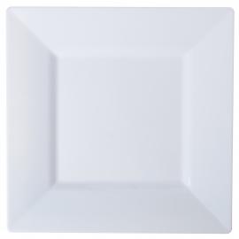 """FINELINE 4.5"""" SQUARE WHITE PLASTIC PLATE, 1604-WH (120)"""