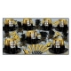 BEISTLE GOLD ENTERTAINER NEW YEAR'S PARTY FAVOR KIT FOR 50 PEOPLE
