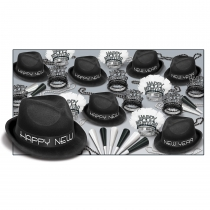 BEISTLE CHAIRMAN BLACK NEW YEAR'S PARTY FAVOR KIT FOR 50