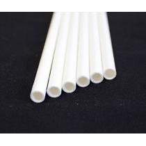 """AARDVARK 7-3/4"""" JUMBO WHITE WRAPPED PAPER STRAWS - 3,200 PER CASE"""