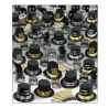 BEISTLE SILVER GOLD SUPER DELUXE NEW YEAR'S PARTY FAVOR KIT FOR 100 PEOPLE
