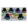 BEISTLE MIDNIGHT MAGIC NEW YEAR'S PARTY FAVOR KIT FOR 50 PEOPLE