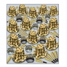 BEISTLE GEM STAR GOLD DELUXE NEW YEAR'S PARTY FAVOR KIT FOR 100 PEOPLE