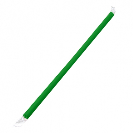 "KARAT 9"" GREEN STRAW, CLEAR FILM WRAPPED, GIANT DIAMETER - 2,500 PER CASE"