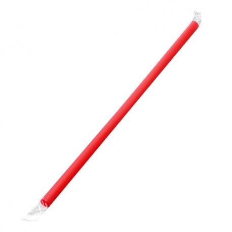 "KARAT 9"" RED STRAW, CLEAR FILM WRAPPED, GIANT DIAMETER - 2,500 PER CASE"