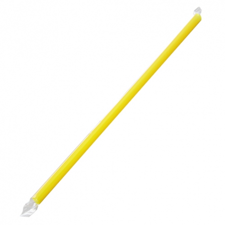 "KARAT 9"" YELLOW STRAW, CLEAR FILM WRAPPED, GIANT DIAMETER - 2,500 PER CASE"