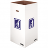 "SQUARE WHITE 50 GALLON CARDBOARD TRASH CONTAINER, 18"" X 18"" X 36"" H - 10 PER CASE"