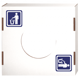 "LID FOR SQUARE CARDBOARD TRASH CAN, ""GENERAL WASTE"" ICON/USE - 10 PER CASE"
