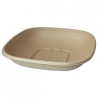 WORLD CENTRIC 32 OZ SQUARE UNBLEACHED PLANT FIBER BOWL - SOLD PER CASE OF 400