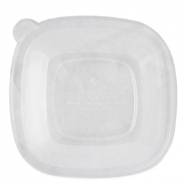WORLD CENTRIC CLEAR LID FOR 24-48 OZ SQUARE BOWLS - SOLD PER CASE OF 200