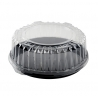 "FINELINE DD12.L 12"" CLEAR PLASTIC DOME LID, FOR 12"" TRAYS (50/CASE)"