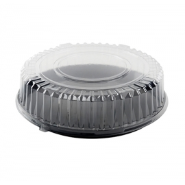 "FINELINE DD16.L 16"" CLEAR PLASTIC DOME LID, FOR 16"" TRAYS (50/CASE)"