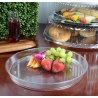 "FINELINE HR1220.CL, PLASTIC 12"" CLEAR CATERING TRAY EXTRA HEAVY (25/CASE)"