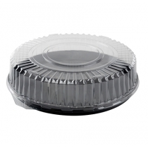 "FINELINE DD18.L 18"" CLEAR PLASTIC DOME LID, FOR 18"" TRAYS (50/CASE)"