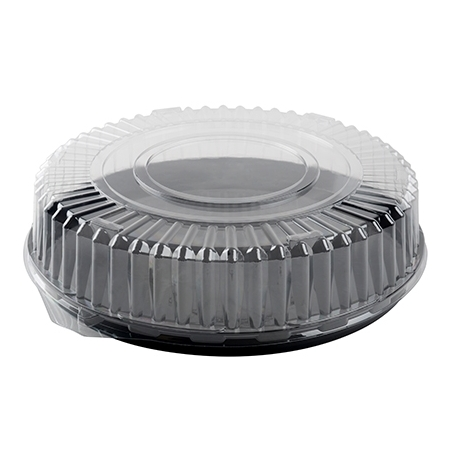 """FINELINE DD18.L 18"""" CLEAR PLASTIC DOME LID, FOR 18"""" TRAYS (50/CASE)"""