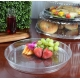 """FINELINE HR1620.CL, PLASTIC 16"""" CLEAR CATERING TRAY EXTRA HEAVY (25/CASE)"""
