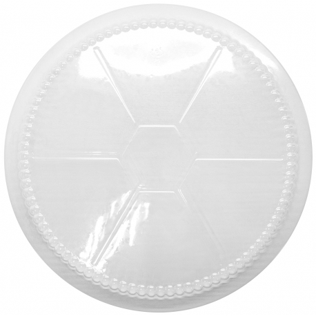 """PLASTIC DOME LID, ECONOMY, FOR 7"""" ROUND CONTAINER (500)"""