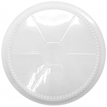 "PLASTIC DOME LID , ECONOMY, FOR 9"" ROUND CONTAINER (500)"